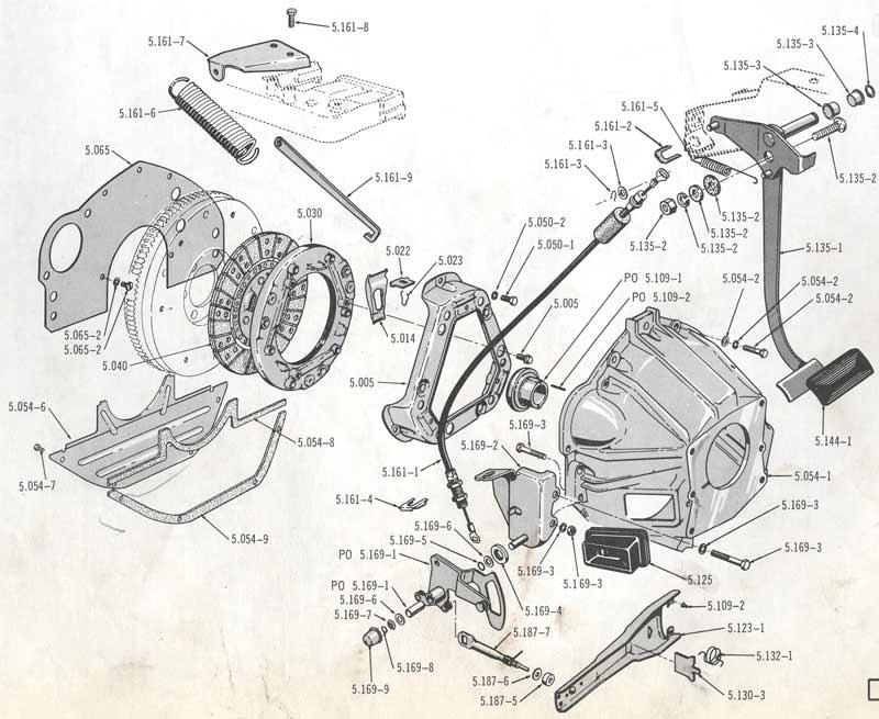 amc clutch linkage diagram enthusiast wiring diagrams u2022 rh rasalibre co Jeep Wrangler 2.5 Engine Upgrades AMC Jeep Motor